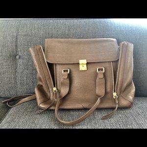 3.1 Phillip Lim brown Large Pashli leather satchel